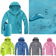 New Waterproof Windproof Jacket Mens Ladies Womens Lightweight Rain Coat Outdoor