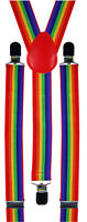 Rainbow Gay LGBT Pride Braces Suspenders Carnival Festival Fancy Dress Costume