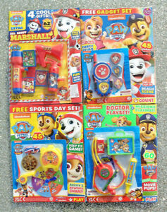 4 x PAW PATROL MAGAZINE BACK ISSUES ~ NEW WITH GIFTS ~ ~