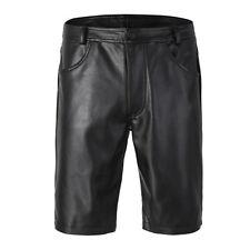 Men's Faux Leather Wetlook Boxer Pants Long Leg Tights Shorts Underpants S-2XL