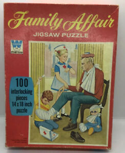 Family Affair 1970 100 piece jigsaw puzzle Whitman Complete Mrs Beasley Vintage