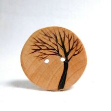 Tree Sewing Button, Extra Large Wood Button, Wooden Tree Buttons,