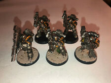 Warhammer 40000 40k Forgeworld Iron Warriors Devastator Squad of 5 paint 7/10 A