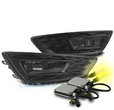 15-17 FORD FOCUS S SE BUMPER DRIVING FOG LIGHTS LAMP SMOKE W/3K XENON HID+BEZEL