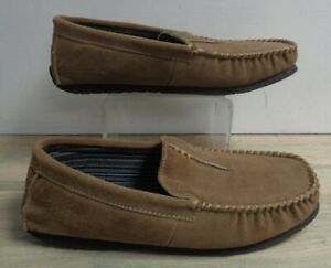 Clarks Mens Light Brown Faux Suede Moccasin Slip On Slippers UK 10 EU 44