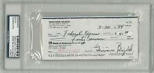Genevieve Bujold Signed Authentic Autographed Check Slabbed PSA/DNA #83498463