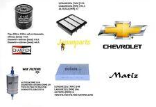 H11 Kit filtri tagliando Chevrolet Matiz 1.0 49 Kw 03.2005 >