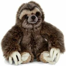 LIVING NATURE 30cm SLOTH SOFT TOY PLUSH VELCRO TO HANG  WITH TAG - NEW  AN401