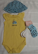 Gymboree Island Beauty 6-12 Month Bodysuit Socks Hat Outfit NWT Turtle