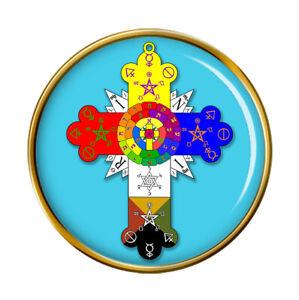 Rose Cross Christian Pin Badge