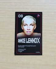 CARD ESSELUNGA - STARZONE 2011 - CARD N°8  ANNIE LENNOX - STARS DELLA MUSICA