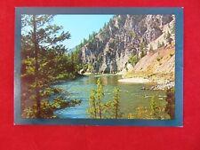 Vintage Original Clark Fork River Gorge, Montana Uncirculated Postcard