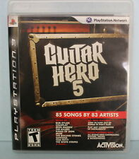 Guitar Hero 5 PlayStation 3 Music Rock Band Video Game
