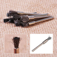 10x Steel Pencil Wire Wheel Cup Brushes Kit  Accessories fit Rotary Tool