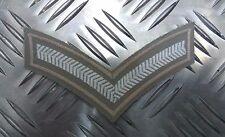 Genuine British Military Desert L Corporal  Rank Stripes / Chevrons Badge Patch