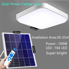 100W Solar Power Ceiling Fixtures Light Indoor Bedroom Livingroom Bed Room Lamp
