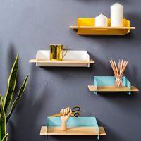 20CM Floating Bookcase  Shelves Bookshelf Unit S Shape Wall Stand Storage Displa