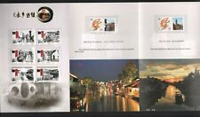 CHINA  BOOKLET WITH STAMPS  OF BEAUTIFUL  WATER-TOWN