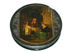 Antique lackdose stobwasser miniature pappmachee pour 1820