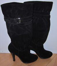 Michael Kors Wms Black Leather Suede Kincaid Slouch Boots Sz 6.5 *Sharp Must C*