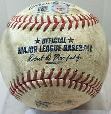 MAC WILLIAMSON SINGLE CAREER HIT #10 & RBI #2 MLB GAME-USED BASEBALL GIANTS 2016