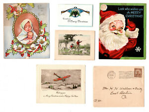 Vintage Christmas Cards - Lot of 5 Cards