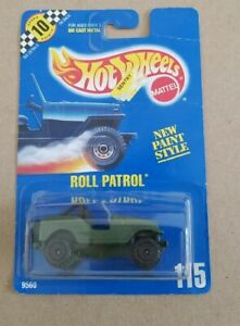 VINTAGE HOT WHEELS ROLL PATROL ARMY GREEN JEEP #115  NEW IN PACKAGE #9560 READ