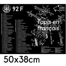 TAPIS DE NETTOYAGE Pistolet BERETTA 92F en français !