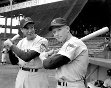 Mickey Mantle and Joe DiMaggio UNSIGNED photo -K9294 - New York Yankees legends