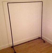 UK HAND MADE Clothes Rail Rack STEAMPUNK ***INDUSTRIAL Heavy Duty Iron Pipe