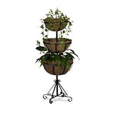 Relaxdays Support pour Plantes 3 Étages HxLxP 103 x 40 cm marron