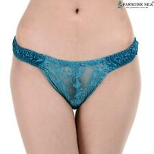 Women's Pure Silk Lace Thong 4 pairs in One Pack