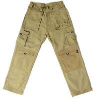 Tuff Stuff Extreme Work Trouser Cordura Knee Pad Pocket Hard Wearing STONE 30-44