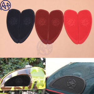 Motorcycle Gas Fuel Tank Rubber Sticker Pad Protector Sheath Knee Protective
