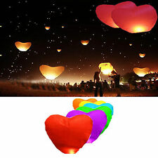 10× Himmelslaternen herzform Skyballon Skylaterne Ballon Herzen kongming Laterne