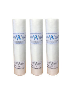 """20"""" SEDIMENT 1 MICRON REVERSE OSMOSIS WATER PREFILTER FILTERS X3"""