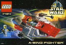 LEGO A-WING FIGHTER 7134 Set Star Wars 2x minifigs minifigures technician pilot