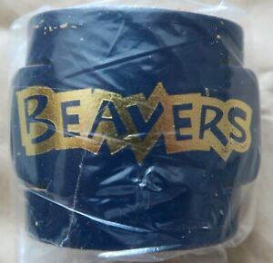 Beaver Embossed Leather Woggles - Blue