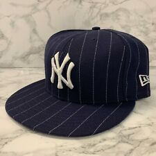 NEW ERA 59FIFTY FITTED HATS NEW YORK YANKEES NAVY WHITE LINE MEN SIZE 7 1/2