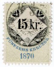 (I.B) Austria/Hungary Revenue : Stempelmarke 15kr