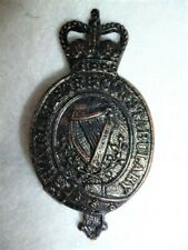 Royal Ulster (Special) Constabulary (RUC) QC Blackened Cap Badge, Scarcer Type
