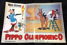 "Original 1972 Italian Walt Disney ""Pippio Olimpionico"" poster Goofy Olympics (A)"
