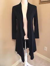 Long Black Sweater cardigan size S Small