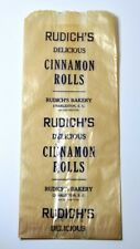 Antique Rudich's Bakery Bag Charleston SC 1933 Dated Cinnamon Rolls Advertising