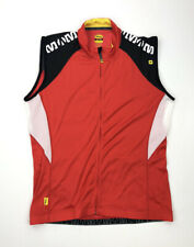 Mavic Mens Cycling Vest Size XL High Visibility Red Black Full Zip Ride Better