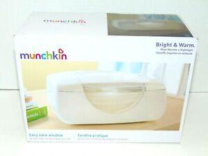 Munchkin Bright & Warm Baby Wipe Warmer & Night Light  Easy View Window NIB NEW