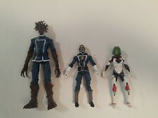 """3 Lot Marvel Legends 4"""" Guardians of the Galaxy Starlord Action Figures Groot"""