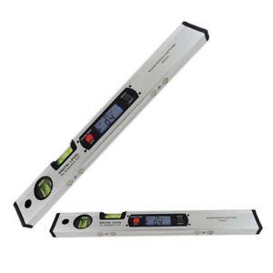 400mm Digital Angle Finder Spirit Laser Level 360° Range Inclinometer Silver