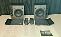 Bose 2001 Direct Reflecting Stereo Speakers Pair Black With Manual & Wires Lot
