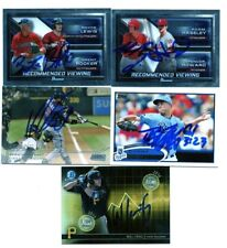 ROYCE LEWIS BRENT ROOKER SIGNED 2017 BOWMAN CHROME DUO INSERT ROOKIE CARD AUTO